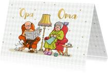 Opa & Omadag kaarten - Opa en Oma dag fauteuil av