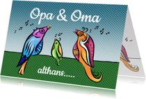 Felicitatiekaarten - Opa en Oma - vogels
