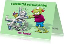 Beterschapskaarten - Opkikker met rolstoel - HE