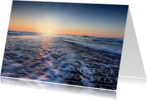 Condoleancekaarten - Our deepest condolences met foto