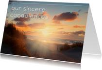 Condoleancekaarten - Our sincere condolences