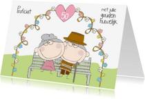 Felicitatiekaarten - Proficiat gouden huwelijk