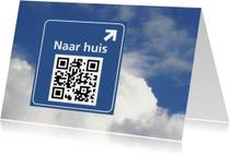Welkom thuis kaarten - QR code scan oost west thuis best