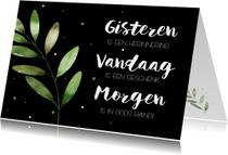 Religie kaarten - Religiekaartje: Gisteren is een herinnering