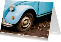 Geslaagd kaarten - Rijbewijs Auto vintage blauw