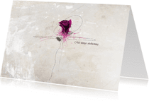 Condoleancekaarten - Roos Cyclaam - JD