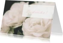 Rouwkaarten - Rouw bedankkaart roze roos
