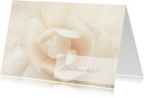 Rouwkaarten - Rouw bedankkaart witte roos