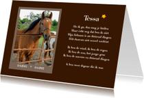 Dierenkaarten - Rouwkaart dier met eigen foto