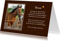 Condoleancekaarten - Rouwkaart dier met eigen foto