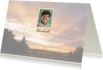 Rouwkaarten - Rouwkaart foto Veluwe en tekstvoorstel