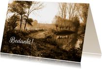 Rouwkaarten - Rouwkaart paadje sepia