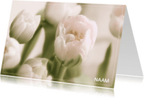 Rouwkaarten - Rouwkaart tulp
