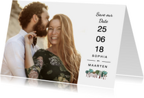 Trouwkaarten - Save the Date Bomen