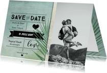Trouwkaarten - Save the date kaart strand