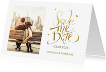 Trouwkaarten - Save the Date Kerstkaart foto