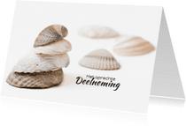 Condoleancekaarten - Schelpen in balans