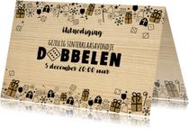 Sinterklaas feestelijke uitnodiging dobbelspel