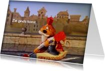 Sinterklaaskaarten - Sinterklaas Loeki roeiboot -A