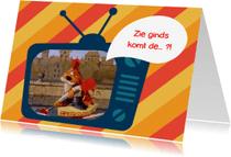 Sinterklaaskaarten - Sinterklaas Loeki tv intocht  -A