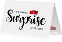 Sinterklaas surprise heerlijk avondje