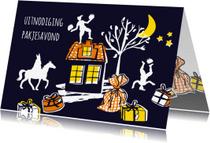 Sinterklaaskaarten - Sinterklaas uitnodiging pakjesavond