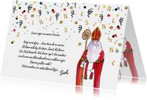 Sinterklaas uitnodiging voor heerlijk avondje
