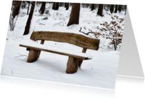 Kerstkaarten - sneeuwbank