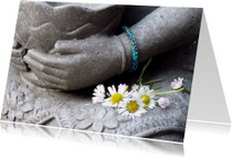 Religie kaarten - Spirituele kaart Boeddha handen1