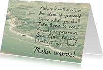Spreukenkaarten - Spreukenkaart Advice from the ocean