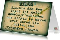 Spreukenkaarten - Spreukenkaart geluk IW