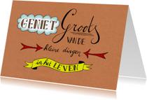 Spreukenkaarten - Spreukenkaart geniet papier - HR
