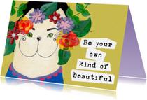 Spreukenkaarten - Spreukenkaart kat beautiful