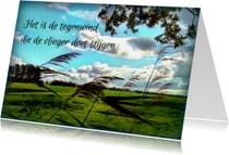 Spreukenkaarten - Spreukenkaart Tegenwind