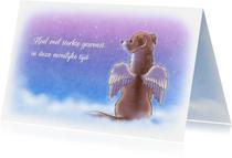 Condoleancekaarten - Sterkte engeltje huisdieren