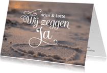 Trouwkaarten - Stijlvolle Uitnodiging bruiloft