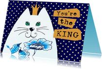 Succes kaarten - Succes kaart You're the KING