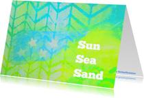 Zomaar kaarten - Sun sea sand
