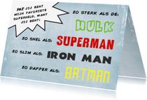 Vaderdag kaarten - Superhelden