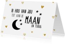 Liefde kaarten - tot de maan en terug
