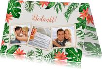 Trouwkaarten - Tropical Bedankt bruiloft - DH
