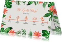 Trouwkaarten - Tropical tijdlijn  - DH