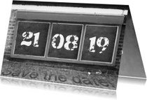 Trouwkaarten - Trouwen bord save the date