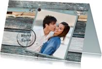 Trouwkaarten - Trouwkaart  met stempel en foto