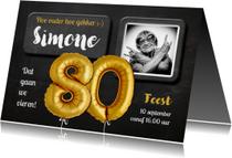 Uitnodigingen - Uitnodiging 80 jaar Ballon - SG