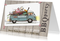 Uitnodigingen - Uitnodiging bbq vwbus pickup