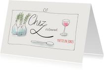 Uitnodigingen - Uitnodiging Chez Restaurant II