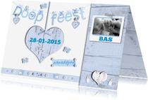 Doopkaarten - uitnodiging doopfeest voor een jongen