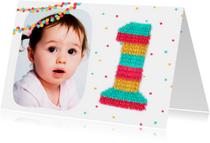 Kinderfeestjes - Uitnodiging eerste verjaardag piñata party