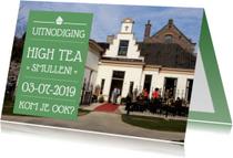Uitnodigingen - Uitnodiging High Tea Foto